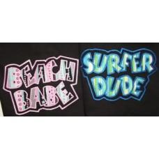 Exclusive Beach Babe~Surfer Dude Double Applique Set