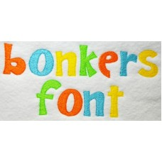 Bonkers Embroidery Font