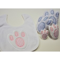 Easter Bunny Foot Applique Plus Snuggly Toys