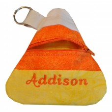 Candy Corn Zipper Purse In the Hoop
