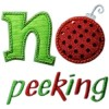 No Peeking Christmas Applique