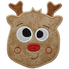 Silly Sweet Reindeer Applique