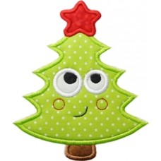 Silly Sweet Christmas Tree Applique