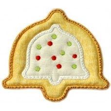 Christmas Cookie Ornament + MTM Applique - Christmas Bell