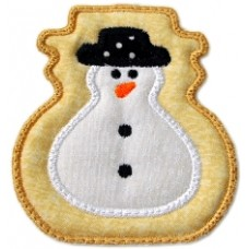 Christmas Cookie Ornament + MTM Applique - Snowman