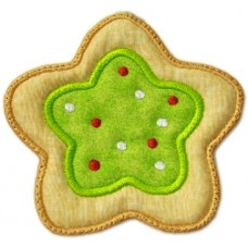 Christmas Cookie Ornament + MTM Applique - Star