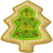 Christmas Cookie Ornament +MTM Applique - Christmas Tree