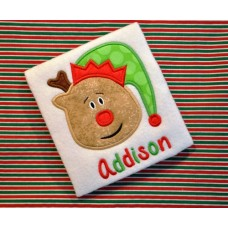 Reindeer Elf Hat Applique