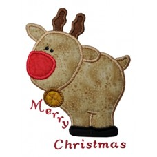 Plump Reindeer Applique