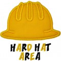 Hard Hat Construction Applique