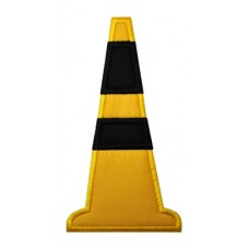 Highway Construction Cone Applique
