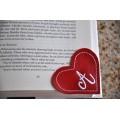 Corner Bookmark Mongram Heart In the Hoop