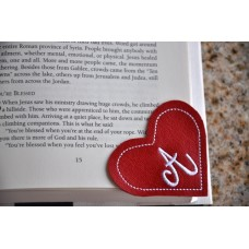 Corner Bookmark Mongram Heart In the Hoop
