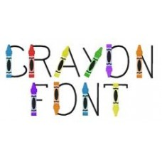 Crayon Font with ITH Crayon Case