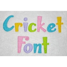 Cricket Embroidery Font