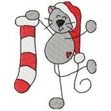 Christmas Stick Kitties