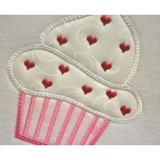 Cupcake Heart Sprinkles Applique