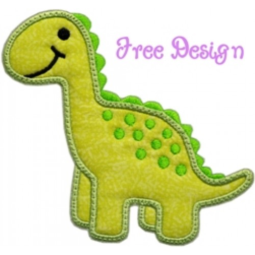 FREE Darling Dino Applique