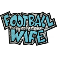 Exclusive FOOTBALL WIFE Double Applique