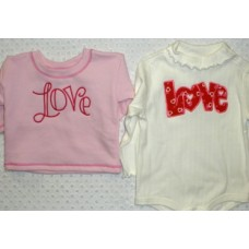 Double Love Applique Set