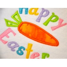 Happy Easter Carrot Applique