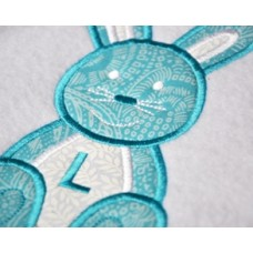 Baby Bunny Easter Applique Font
