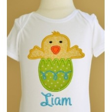 Easter Egg Chick Boy Applique