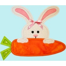 Easter Bunny Carrot Peek Applique
