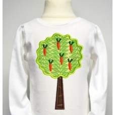 Easter Carrot Tree Applique