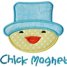 Easter Hat Chick Applique
