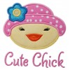 Easter Bonnet Chick Applique
