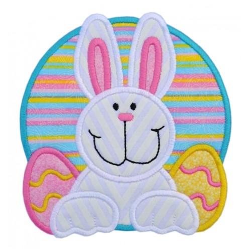 Easter Bunny Eggs Applique