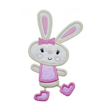 Happy Dance Bunny Girl Applique