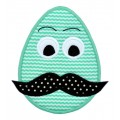 Mustache Easter Egg Applique