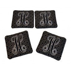 Elegant Embossed Monogram Coasters In the Hoop