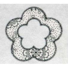 FREE Flower Applique Frame Design