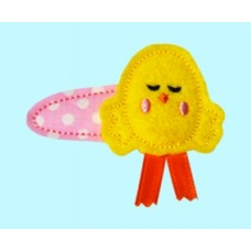 Fun Felts Chick Barette Snap Clip Covers