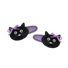 Fun Felts Kitty Cat Barette Snap Clip Covers