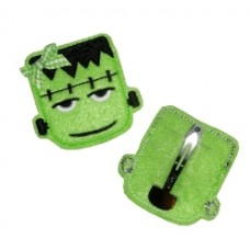 Fun Felts Halloween Frankie Frankenstein Barette Snap Clip Covers