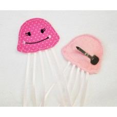 Fun Felts Jellyfish Barette Snap Clip Covers
