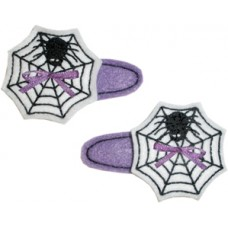 Fun Felts Spider Web Barette Snap Clip Covers