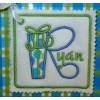 Gift Box Applique Font - BONUS Gift Tag!