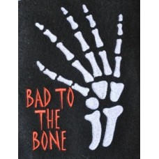 Bad to the Bone Halloween Embroidery Design