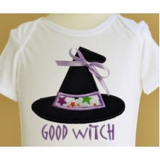 Good Witch Bad Witch Hat Applique