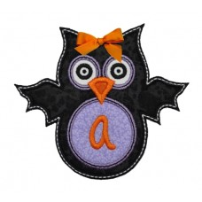 Bat Owl Batty Monogram