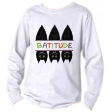 Split Trio of Bats Batitude Applique