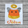 Candy Corn Angel Applique