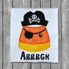 Candy Corn Pirate Applique