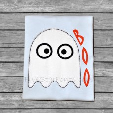 Simple Sweet Boo Ghost Applique