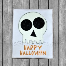 Happy Halloween Skull 2 Applique